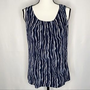 Chico's travelers Pleated Front Tank